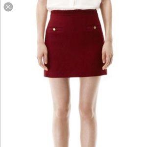 NWT Club Monaco Louisa Skirt Burgundy Size 4